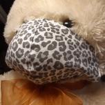 Näomask. Leopard, hall (kahekordne poplin)
