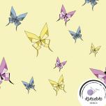 Puuvillane trikotaaž. Origami liblikad