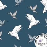 Puuvillane trikotaaž. Origami linnud