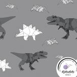 Puuvillane trikotaaž. Origami dinosaurused