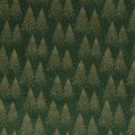 Poplin. Jõulupuud rohelisel taustal