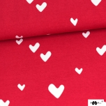 Jersey. Hearts, red
