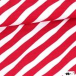 Puuvillane trikotaaž. Punased diagonaalsed lained