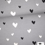 Jersey. Hearts, grey