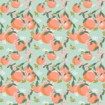 Poplin. Apelsinid mündirohelisel taustal