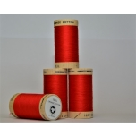 Red organic sewing thread