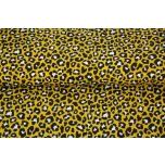 Poplin. Leopard, kollane