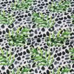Poplin. Gepardi muster puuokstega