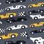 Puuvillane trikotaaž. Võidusõiduautod tumehallil taustal (viimane jupp!)
